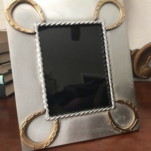 Equestrian metal picture frame